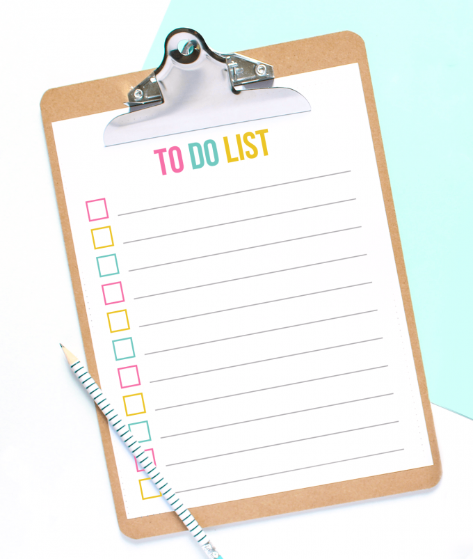 Free Printable To Do List - A Colorful PDF Download